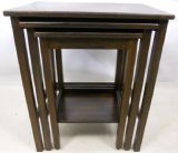 Plain Oak Nest of Three Coffee Tables